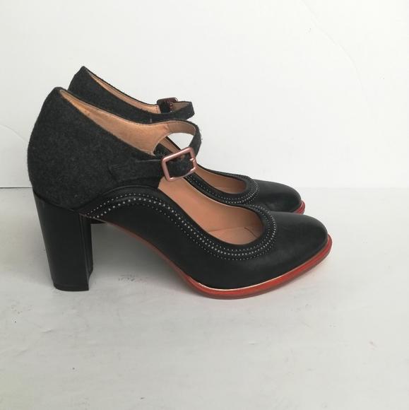 New Ellis Mae Black Combi Mary Jane